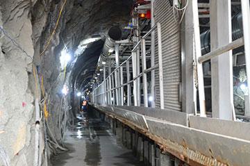 TBM 390E đã nằm sâu bên trong đường hầm