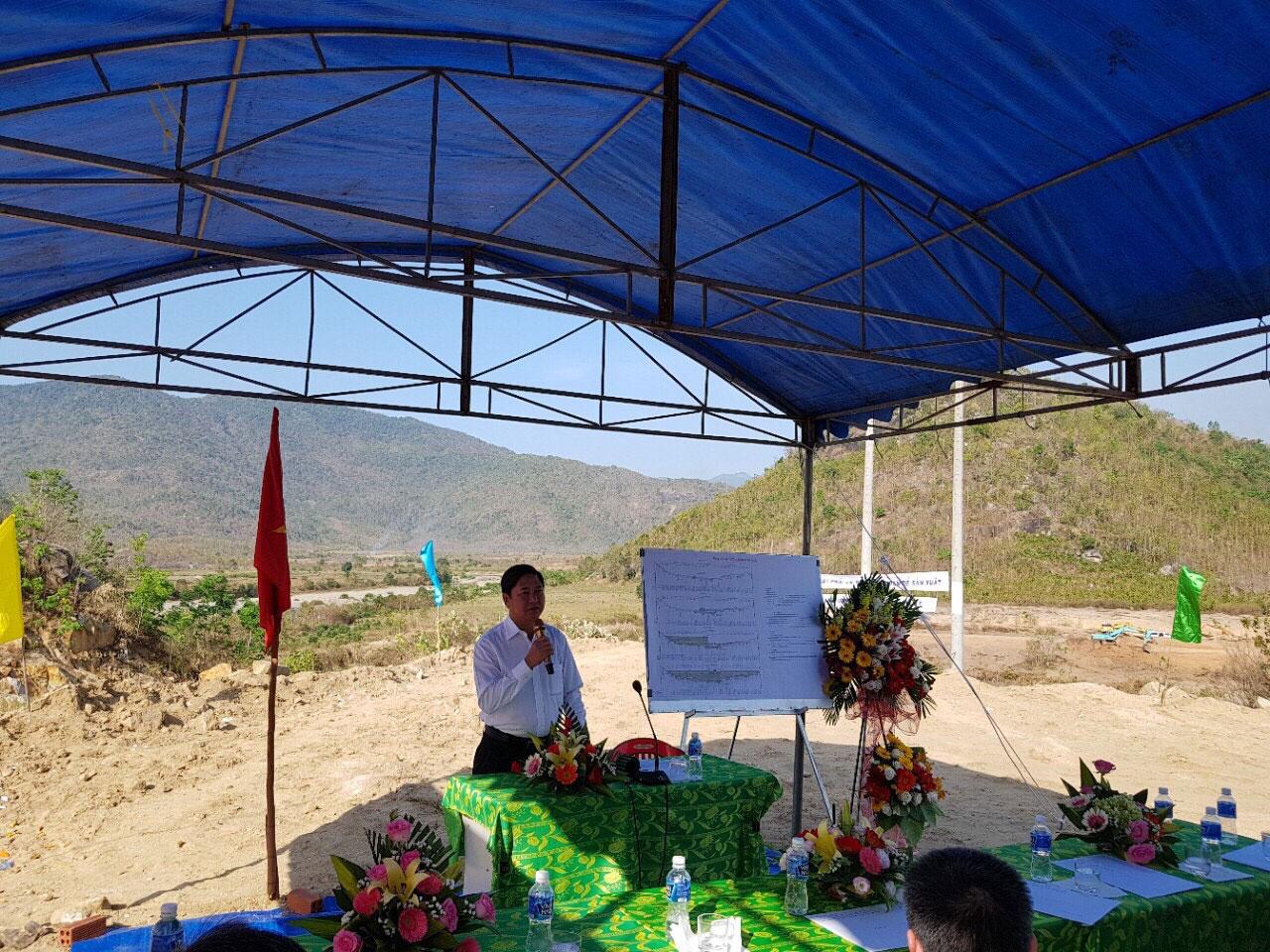 Lãnh đạo tỉnh Ninh Thuận phát biểu tại buổi lễ.