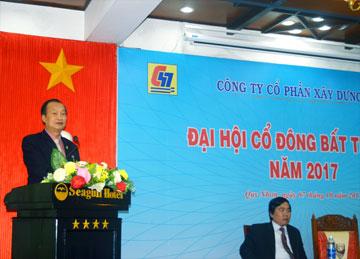 Ông Nguyễn Lương Am – Chủ tịch HĐQT công ty phát biểu tại Đại hội