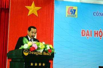 Ông Lương Đăng Hào – Trưởng Ban kiểm soát báo cáo kết quả thoái vốn đầu tư vào Công ty CP Thủy điện Định Bình