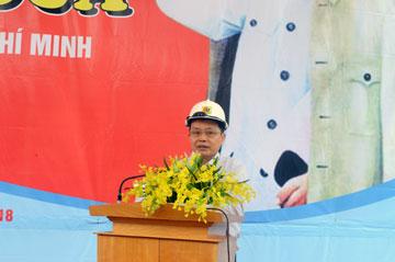 Ông Nguyễn Văn Lê – Chủ tịch Tổng công ty phát điện 3 (Genco3) phát biểu tại buổi lễ