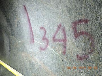 Đánh dấu vị trí cột mốc lý trình Km12+345