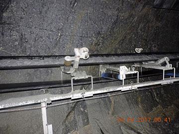 Băng tải đường hầm vận chuyển đá ra ngoài