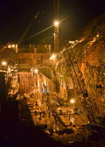 Từ khi khởi công, tại thủy điện Trung Sơn chưa xảy ra vụ tai nạn lao động nghiêm trọng nào - Ảnh V.Lương