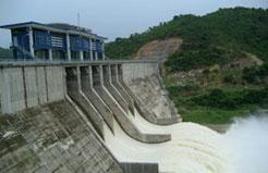 Đập bê tông trọng lực - Hồ chứa nước Lòng Sông