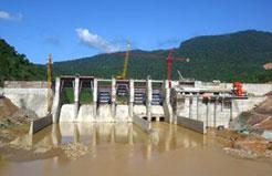 Đập dâng, đập tràn Công trình thủy điện Sông Bung 5