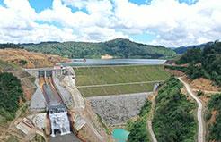 Đập đất, đập tràn xả lũ - Công trình thủy điện Thượng Kon Tum