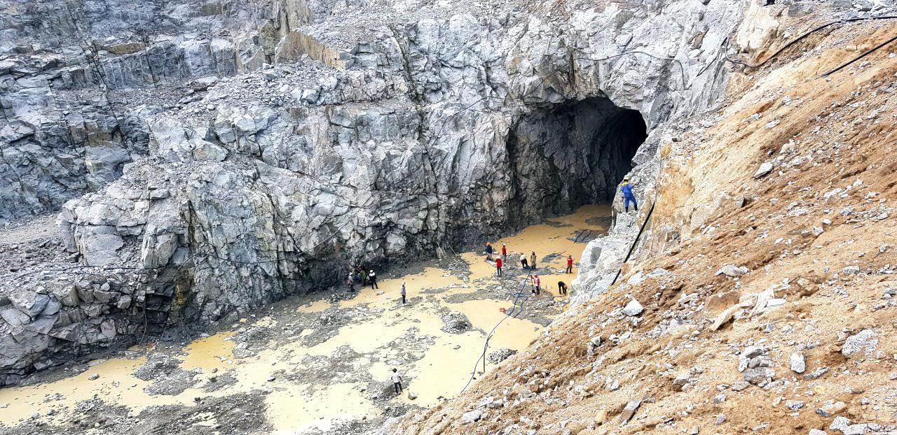 Hình ảnh thi công Hầm xả đoạn 3 - Thủy điện tích năng Bác Ái tỉnh Ninh Thuận