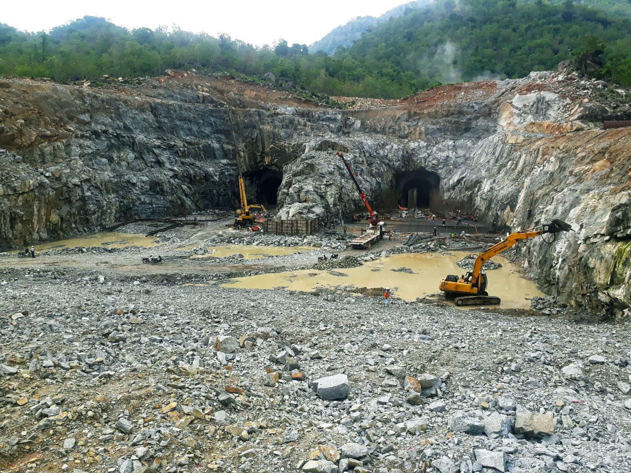 Cập nhật hình ảnh thi công Hầm xả đoạn 3 – Thủy điện tích năng Bác Ái tỉnh Ninh Thuận (23/06/2020)
