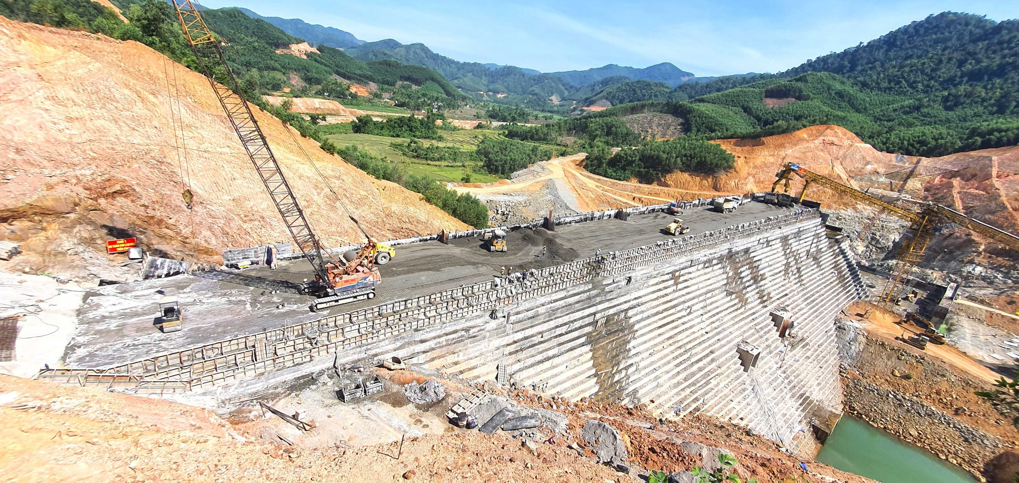 Updated Construction Images of Dong Mit Reservoir Project (June 2020)