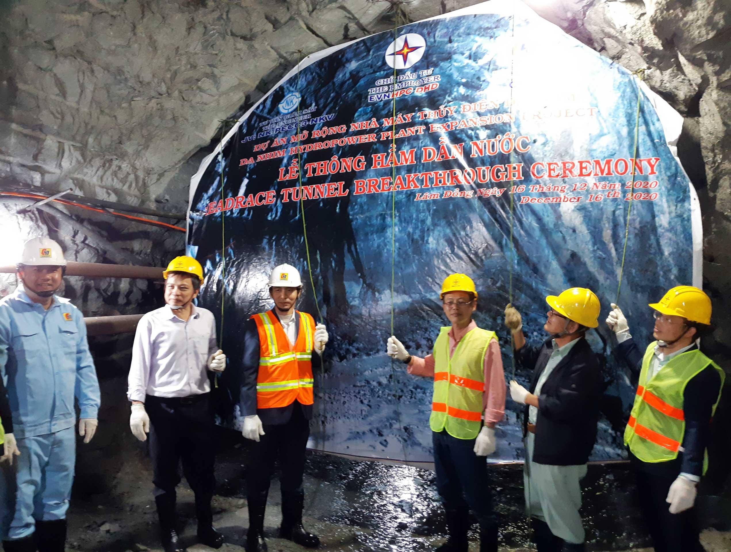 Lễ thông hầm Dự án mở rộng Nhà máy Thủy điện Đa Nhim
