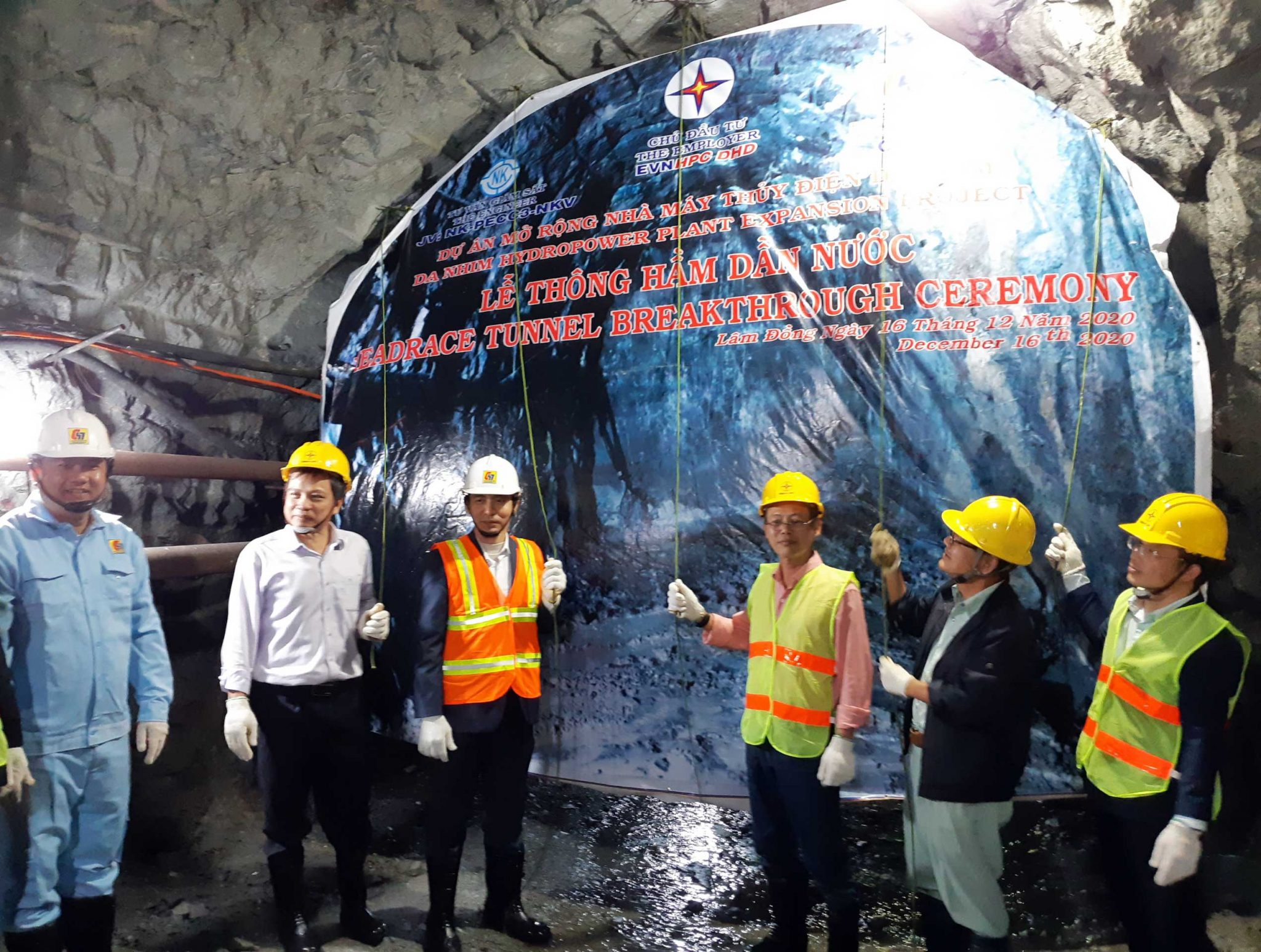 The Tunnel Break-through ceremony of Da Nhim Hydropower Plant Expansion Project
