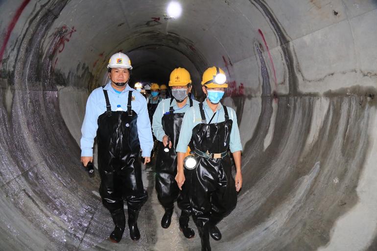 Hoàn thành đường hầm dẫn nước Dự án mở rộng Đa Nhim vượt tiến độ