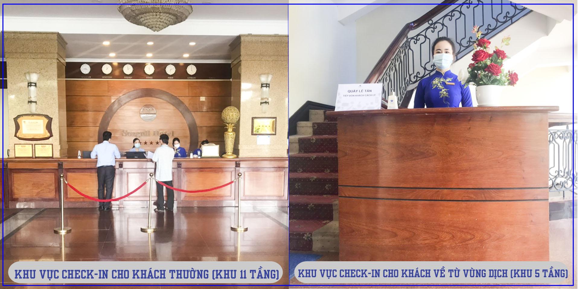 """Khách sạn Hải Âu tiếp tục đồng hành cùng với TP Quy Nhơn tiếp nhận khách lưu trú về từ vùng dịch và hỗ trợ phục vụ các doanh nghiệp thực hiện """"một cung đường hai điểm đến"""" trên địa bàn tỉnh Bình Định"""