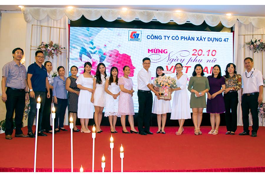 Lãnh đạo C47 gặp mặt và chúc mừng Nữ CBNV nhân kỷ niệm 91 năm ngày thành lập Hội liên hiệp Phụ nữ Việt Nam 20/10